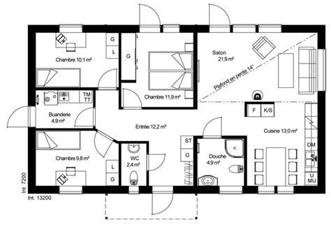 plan maison ossature bois plain pied gratuit maison en bois plain pied plan rdc maison ossature bois sudoise basse provenant du catalogue