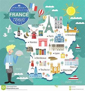 view images france travel map stock vector image of famous wine
