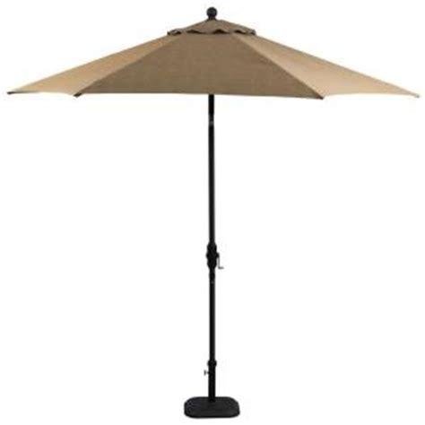 hton bay castle rock 9 ft market patio umbrella in
