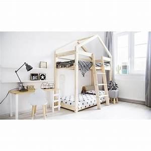 Lit Bois Massif Ikea : lit cabane achat vente lit cabane pas cher cdiscount ~ Teatrodelosmanantiales.com Idées de Décoration
