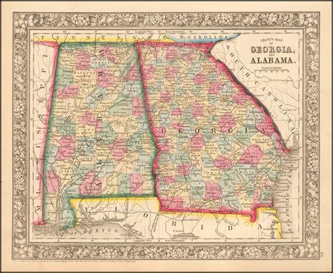 county map  georgia  alabama barry lawrence