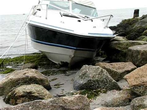 Rock Boat by Boat Hits Rocks In Hyannisport