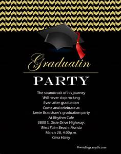 Graduation Party Invitation Wording - Wordings and Messages