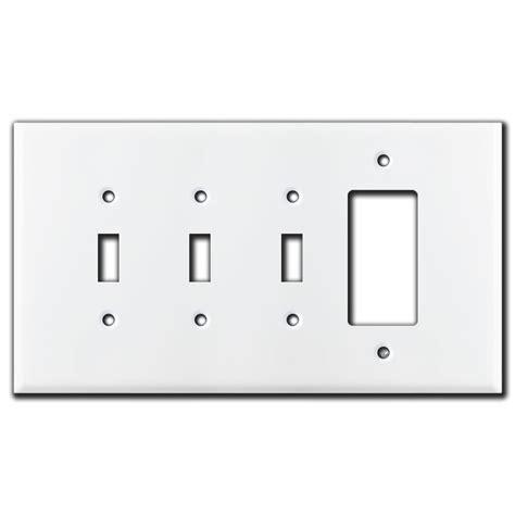 2 toggle 1 rocker switch plate oversized 3 toggle 1 rocker switch plates white 8970