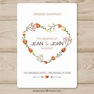 heart vectors photos and psd files free download With wedding invitation template freepik