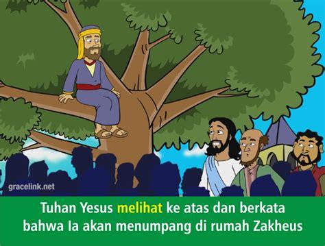 komik alkitab anak tuhan yesus memanggil zakheus
