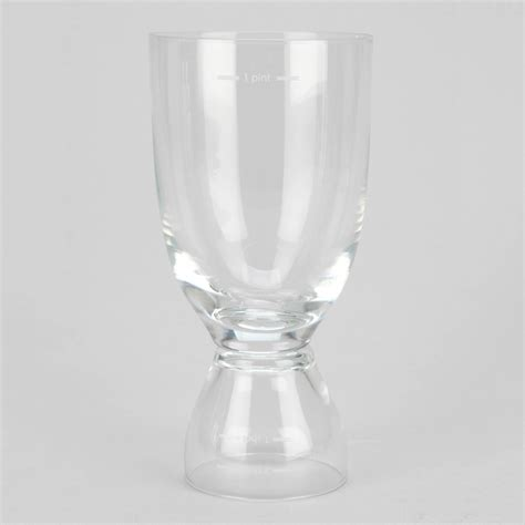 happy hour glass dual shot beer glass the green head