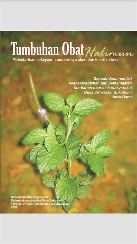 buku tanaman obat herbal tradisional tugas sekolah