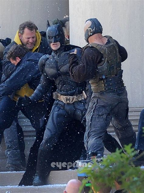 dark knight rises set   video backstageolcom