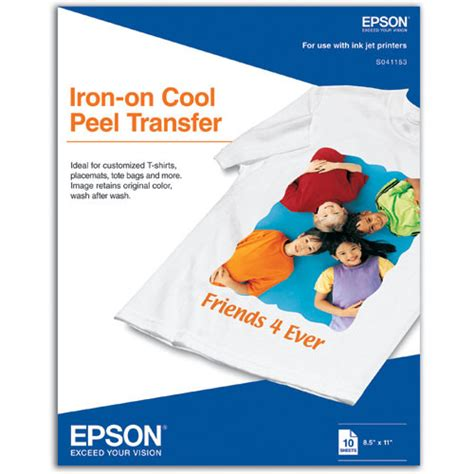 "Iron-On Cool Peel Transfer Paper (8.5 x 11"", 10 Sheets)"