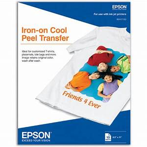 Epson iron on transfer paper 85x11quot 10 sheets s041153 for Letter transfer paper