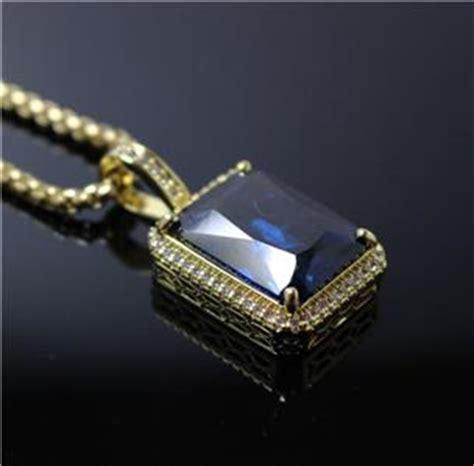 Mens Sapphire Blue Square Gem Stone Pendant Necklace. Natural Grain Watches. Oval Emerald. Blue Bangle Bracelet. Award Medallion