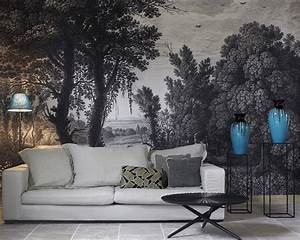 Papier Peint Ananbo : ananb campagne grisaille papier peint panoramique ~ Melissatoandfro.com Idées de Décoration