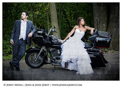 Harley Davidson Motorcycle Wedding Photography Michigan