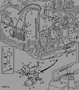 Fuel Pump  Fuel Hoses - Tractor John Deere 7330