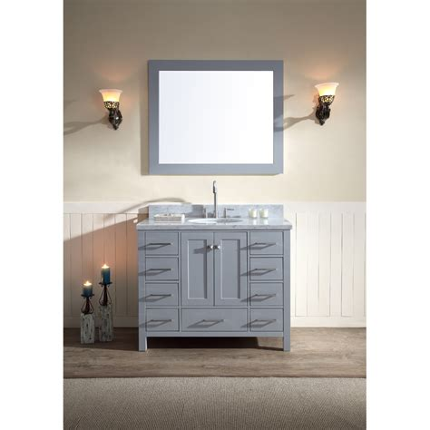 ariel cambridge  single sink vanity set  carrera