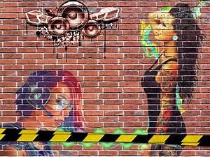 Graffiti Wall: Graffiti Brick Wall