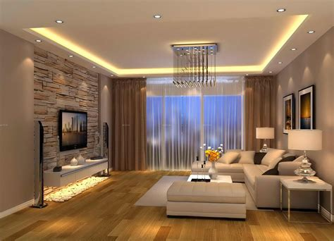 Modern Living Room Brown Design …  Tv Room Pinte…