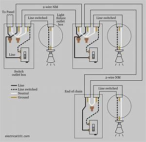 Wiring Diagram For 3 Way Switch With Multiple Lights