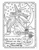 Coloring Witch Halloween Pages Adult Colouring Owl Adults Printable Fantasy Books Witches Printables Sheets Print Cute Woojr Bestcoloringpagesforkids Postcard Shopkins sketch template