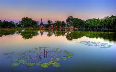 sukhothai historical park thailand wallpapers hd