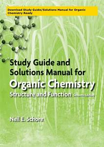 Download Study Guide  Solutions Manual For Organic