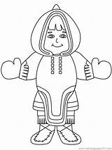 Coloring Eskimo Inuit Pages Inukshuk Drawing Girl2 Countries Clipart Coloringpages101 Kin Advertisement Az sketch template