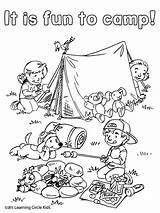 Coloring Camping Sheets Fun Reading Worksheets Preschool Tent Campfire Printable Friends Colorir Kleurplaat Bee Inspirational Kleurplaten Theme Activities Cool Birijus sketch template