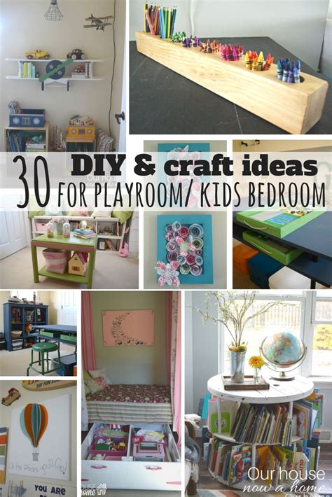 30 Diy And Craft Decorating Ideas For A Playroom Or Kid's
