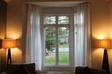 Using A Flexible Curtain Track For Your Bay Window Red Curtains Eyelet Hanging In Doorway Strip For Coolers Shower Curtain Polyester Yellow Target Fancy Sheer Chocolate And Green Beautiful Rods