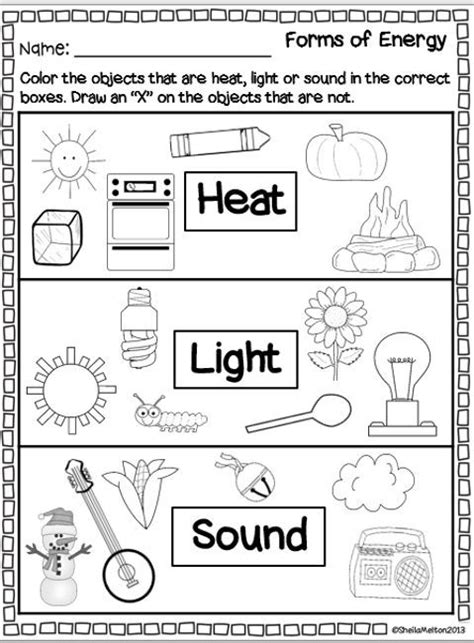 forms  energy heat light sound  grade