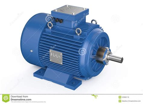 Industrial Electric Motors by Blue Industrial Electric Motor Stock Illustration Image
