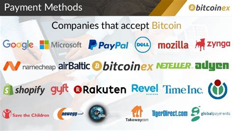 companies that use bitcoin bitcoinex
