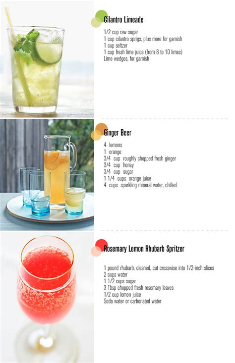 three summer drinks freutcake