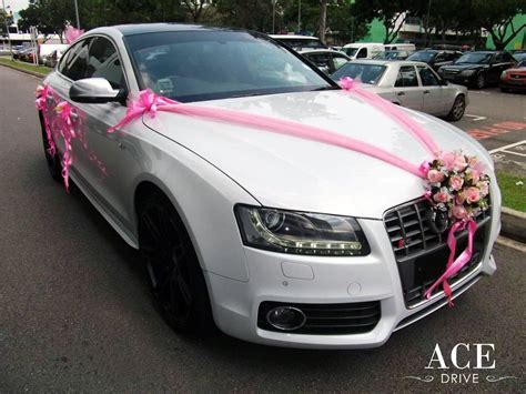 Car For by White Audi S5 Wedding Car Decorations By Ace Drive Car Rental