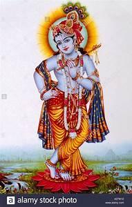 Krishna Holding Flute Hindu God Stock Photo: 3407121