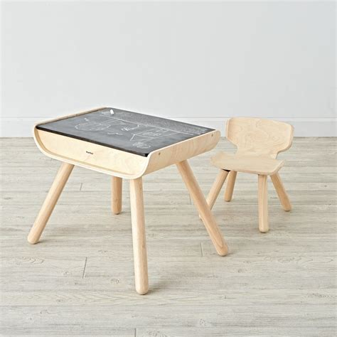 desk and chair wooden play table chair sets the land of nod