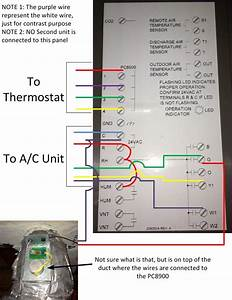 I Have A Honeywell Pc8900 Installed At Home  The Thermostat For The Unit Is Labeled As 1  2  3