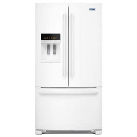 white door refrigerator maytag 36 in w 25 cu ft door refrigerator in