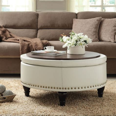 Its elephant figurine base looks very natural and attractive, so it is a nice living room decoration. The Round Coffee Tables with Storage - the Simple and ...