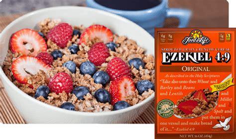 ezekiel  sprouted  grain cereal food  life