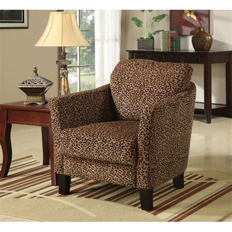 leopard print jungle accent chair with plush seating