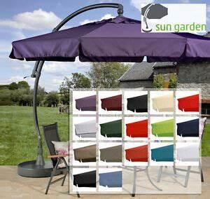 Sonnenschirm Ersatzbezug 3m : sun garden easy sun parasol replacement cover in 16 colours polyester 350 8 screws ebay ~ Orissabook.com Haus und Dekorationen