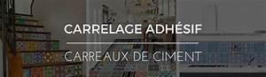 Adhesif Carreau De Ciment : le carrelage adh sif carreaux de ciment id es ~ Premium-room.com Idées de Décoration