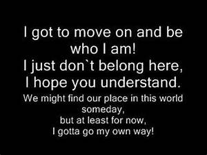 I gotta go my own way by vanessa hudgens W/LYRICS - YouTube