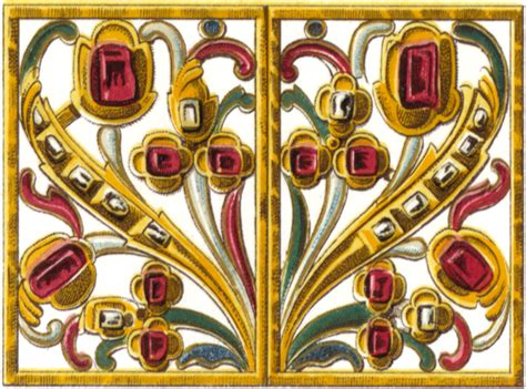 fab antique square gold  ruby jewelry graphic