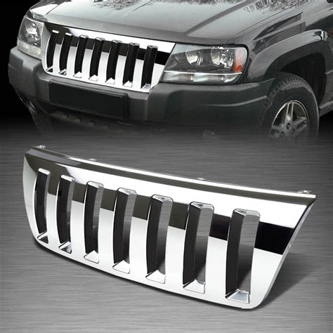jeep grand cherokee front grill for 99 04 jeep grand cherokee wj abs plastic chrome front
