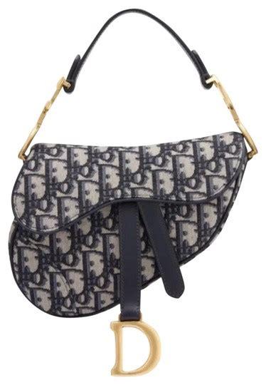 dior mini saddle navy cross body bag tradesy
