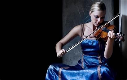 Violin Playing Violinist Blonde Brown Wallpapers Biola