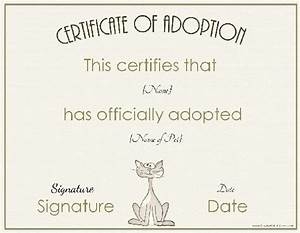 adoption certificate With certificate of adoption template